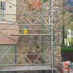 Abdichtung Stadtmauer zu Wohnhaus im Injektageverfahren
